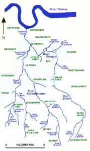 Map of the Ravensbourne river system