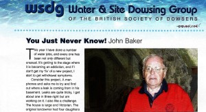 John Baker Dowsing Water Job example