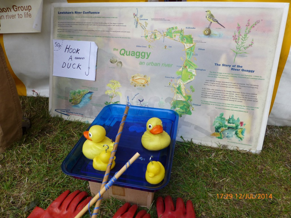 Lewisham's People Day 2014 – hook a Quaggy duck!