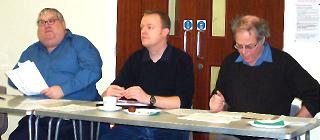 Management Committee members (left to right) Ray Manchester (Chair), James MacGregor (Treasurer) and Dave Larkin (Secretary)